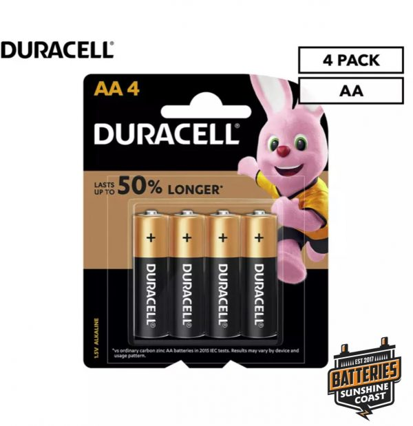 duracell 4 pack AA batteries