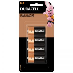 C battery Duracell 4 pack