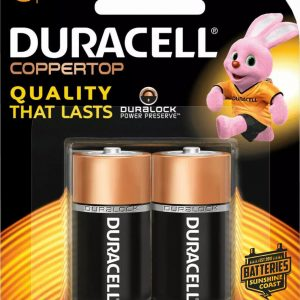 Duracell C size batteries 2 pack